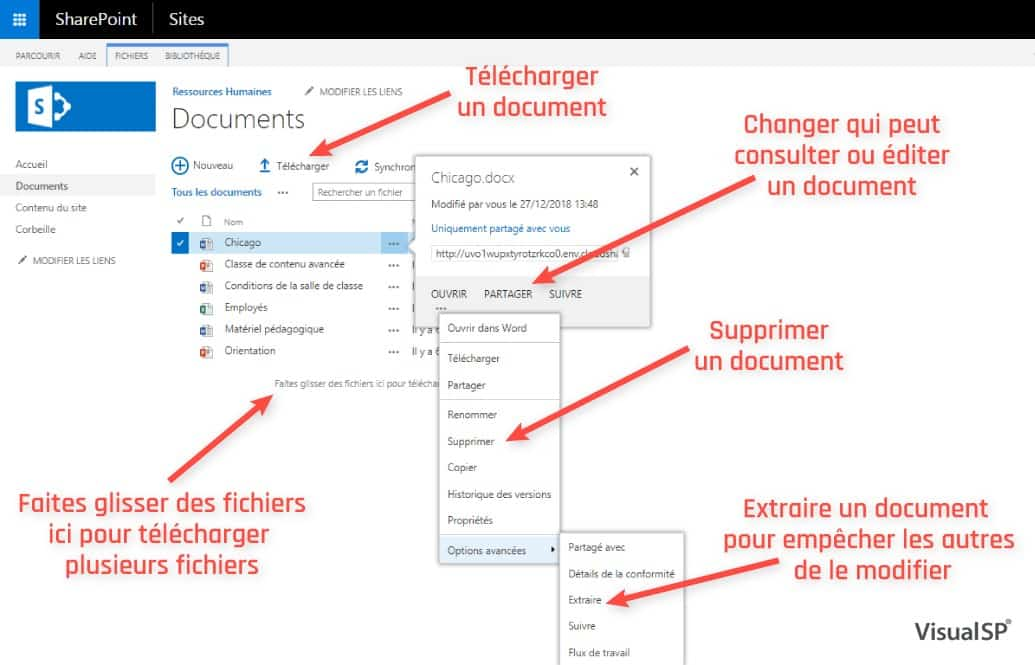 SharePoint Document Library in French